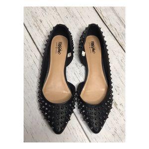 Mossimo Black Studded Pointy Toe Flats